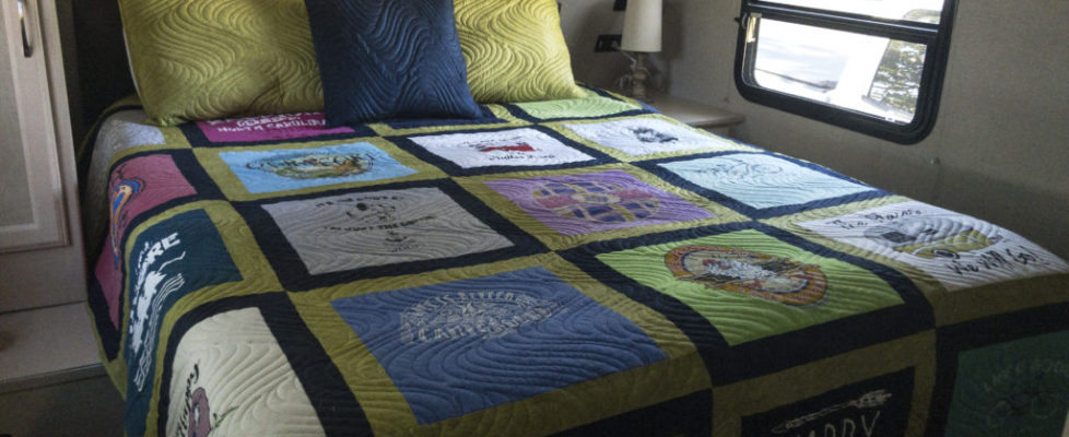Travel t-shirt quilt!